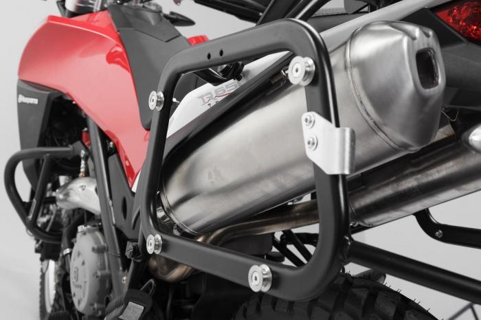 Sistem cutii laterale Trax Ion aluminiu Negru. 45/45 l. Husqvarna TR 650 Terra / Strada. [2]