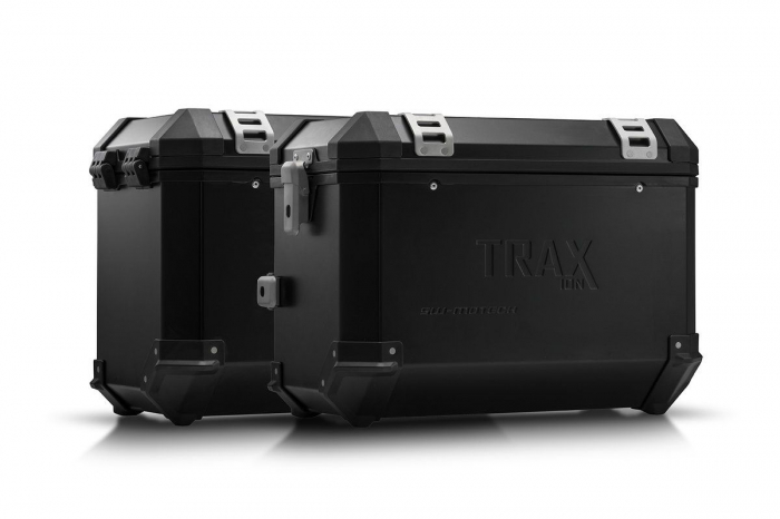 Sistem cutii laterale Trax Ion aluminiu Negru. 45 / 45 l. Kawasaki Versys 650 (07-14). [0]