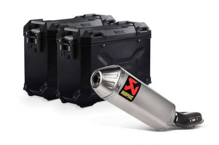 Sistem cutii laterale Trax Adv aluminiu 37/37 l. + Akrapovic Yamaha Ténéré 700 (19-20). [0]