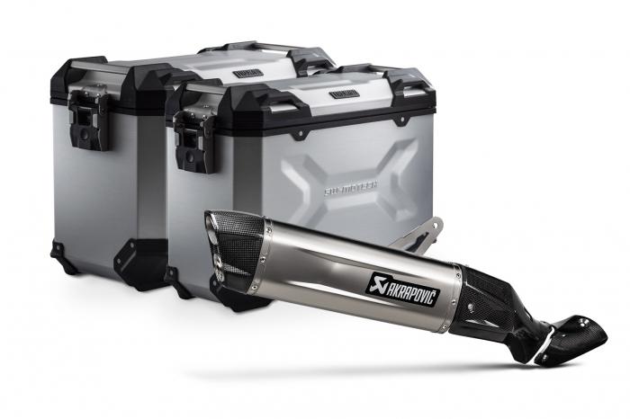 Sistem cutii laterale Trax Adv aluminiu 45/37 l. + Akrapovic Honda CRF1100L Africa Twin (19-). [0]