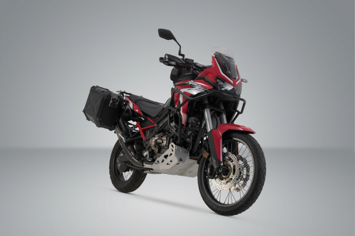 Sistem cutii laterale Trax Adv aluminiu 45/37 l. + Akrapovic Honda CRF1100L Africa Twin (19-). [1]