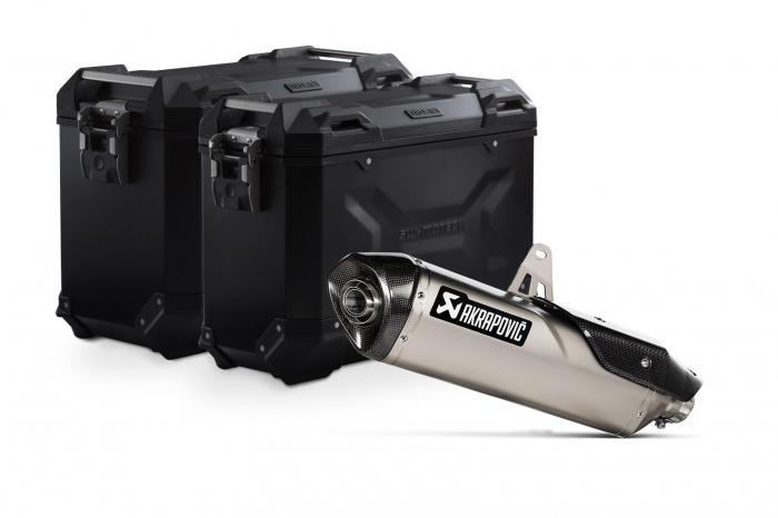 Sistem cutii laterale Trax Adv aluminiu 45/37 l. + Akrapovic Triumph Tiger 900 (19-). [0]
