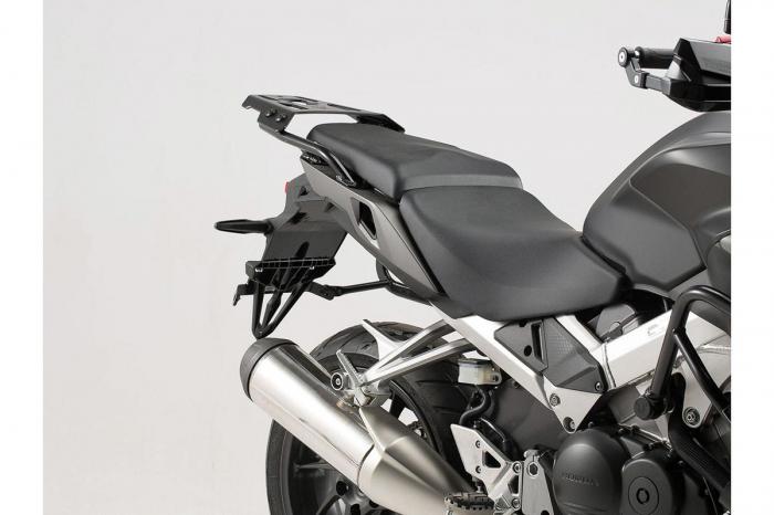 Sistem cutii laterale Trax Adv aluminiu Argintiu. 45/45 l. Honda VFR800X Crossrunner (15-). 1