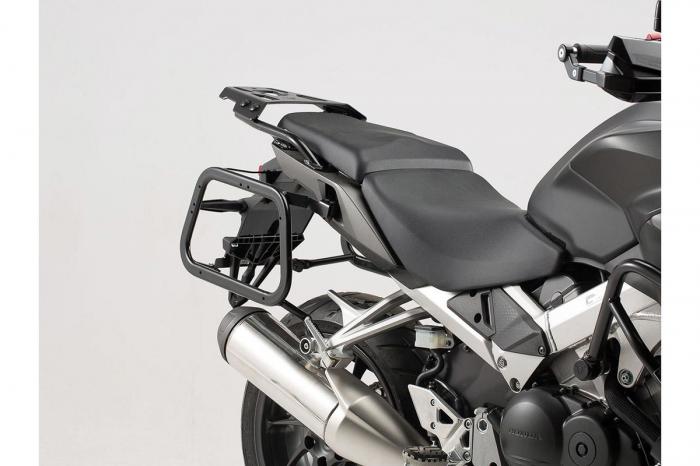 Sistem cutii laterale TRAX ADV aluminiu Negru . 37/37 l. Honda VFR800X Crossrunner (15-). 2