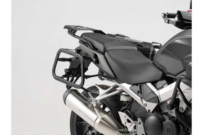 Sistem cutii laterale TRAX ADV aluminiu Negru . 37/37 l. Honda VFR800X Crossrunner (15-). 1