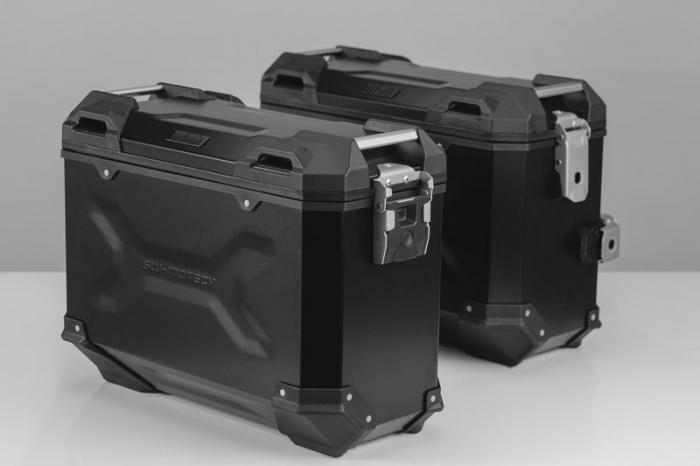 Sistem cutii laterale Trax Adv aluminiu Negru . 37/37 l. Yamaha MT-07 Tracer (16-). [0]