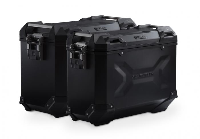 Sistem cutii laterale Trax Adv aluminiu Negru . 45/37 l. Suzuki DL 650 V-Strom (04-10). [0]