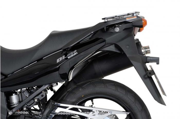 Sistem cutii laterale Trax Adv aluminiu Negru . 45/37 l. Suzuki DL 650 V-Strom (04-10). [2]