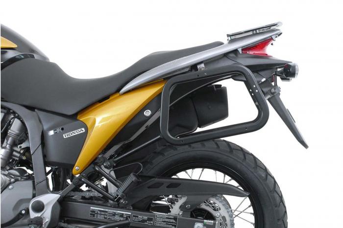 Sistem cutii laterale TRAX ADV aluminiu Negru . 45/45 l. Honda XL 700 V Transalp (07-12). 1