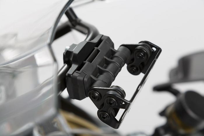 Suport GPS Quick-Lock cu absorbant soc. Montare pe Cross-Bar D13/16 mm. Negru 0