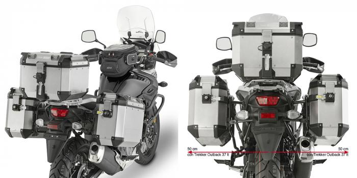 Suport sidecase Trekker Outback Monokey pentru Suzuki DL 650 V-Strom (2017) [0]