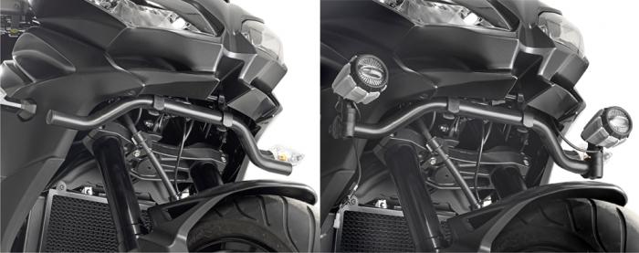 Suport special pentru montare proiectoare Givi S310 si S320 pe Kawasaki Versys 650 2015-2017 0