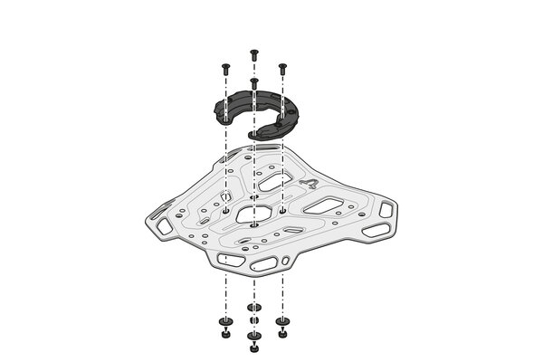 Suport Top Case Adventure-Rack Negru Ducati Multistrada V4 (20-) [7]