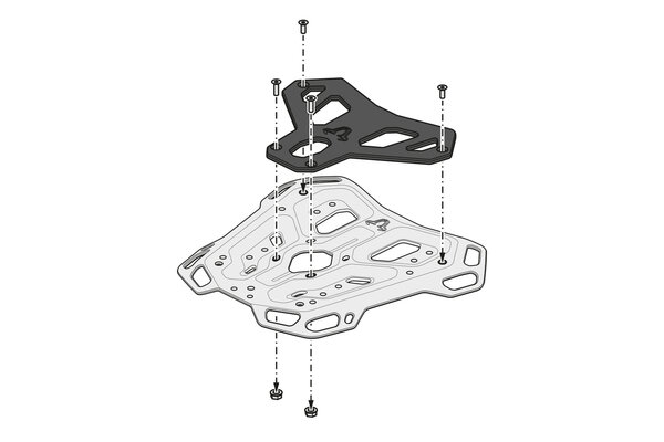 Suport Top Case Adventure-Rack Negru Ducati Multistrada V4 (20-) [6]