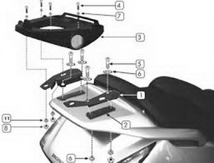 Suport Top Case MONOKEY Honda Silver Wing 600 '01 [1]