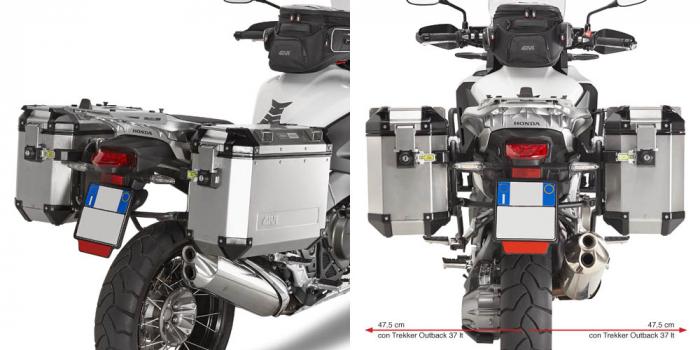 Suporti laterali Side Case Trekker Outback Monokey Honda Crosstourer 1200 '12 [0]