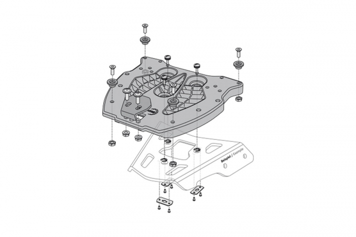 Trax Adv top case system BMW R 1200 GS (04-12). [2]