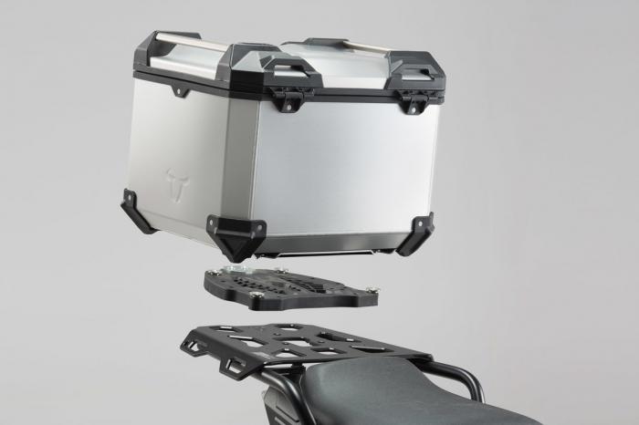 Trax Adv Topcase System. Argintiu Ducati Multistrada 1200/S, Hyperstrada 0