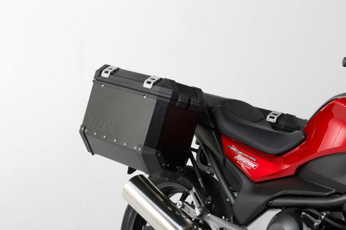 Sistem cutii laterale Trax Ion aluminiu Negru 37/37 l. Honda NC700 S/X, NC750 S/X. 1