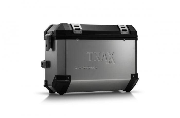 Trax Ion M Side case. Aluminium. 37 l. dreapta. argintiu 0