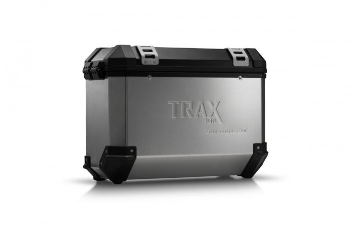 Trax Ion M Side case. Aluminium. 37 l. stanga. argintiu 0
