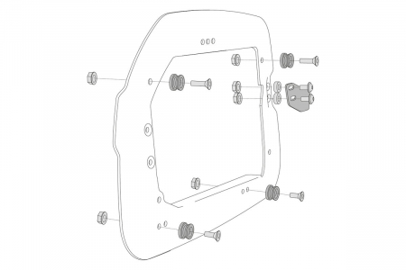 Adapter kit Pentru carrier 2 pcs. Pentru Trax ADV/EVO cases. [3]