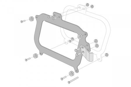 Adapter kit Pentru Givi carrier 2 pcs. Pentru Trax ADV/EVO cases. [1]