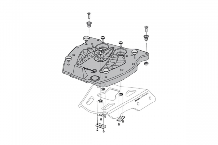 Adaptor placa Top Case GIVI/KAPPA Monokey. Fiber reinforced nylon. Negru [1]