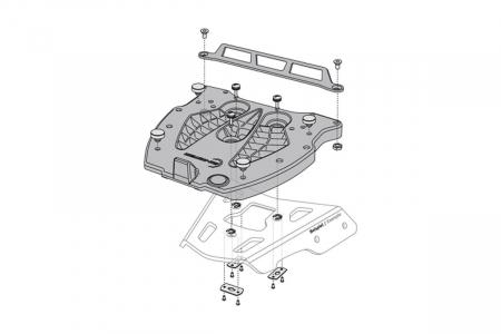 Adaptor placa Top Case GIVI/KAPPA Monolock.Fiber reinforced nylon. Negru [1]