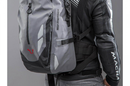 Backpack Baracuda Tarpaulin. Impermeabil. Gri/Negru 25 l.1