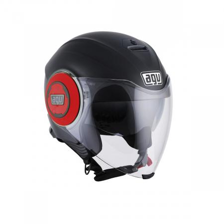 Casca AGV FLUID E2205 MONO - MATT BLACK/RED0