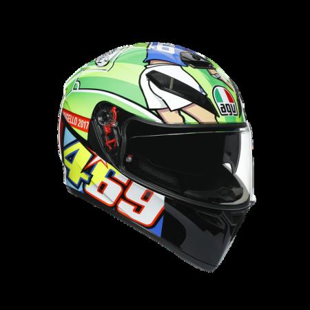 CASCA AGV K3 SV E2205 TOP - ROSSI MUGELLO 2017 [6]
