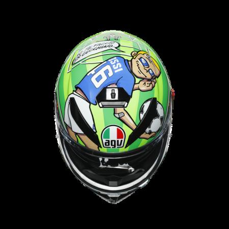 CASCA AGV K3 SV E2205 TOP - ROSSI MUGELLO 2017 [5]