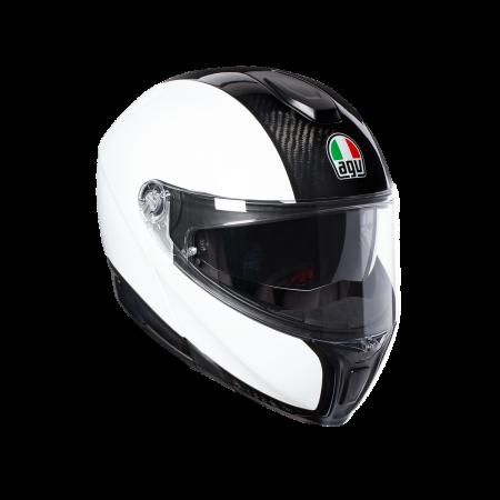 Casca AGV SPORTMODULAR MONO E2205 - CARBON/WHITE0