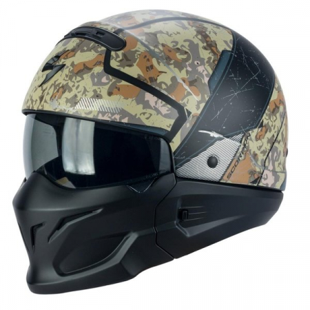 Casca moto SCORPION EXO COMBAT OPEX S Desert camo