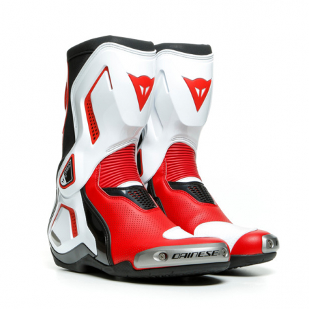 Cizme Moto Dainese TORQUE 3 OUT AIR BOOTS BLACK/WHITE/LAVA-RED marime 42