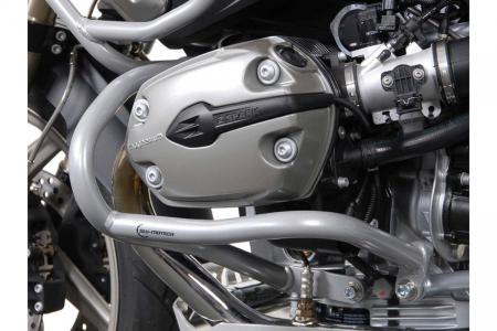 Crash Bar Argintiu. Capac motor. BMW R 1200 GS 2004-2012 [2]