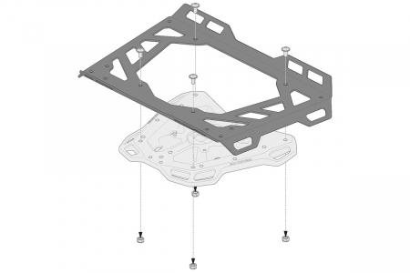Extensie suport bagaje pentru Adventure-RACK si Street-Rack 45x30 cm. Quick-Lock. Aluminium. Negru2
