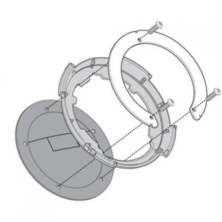 Flansa metalica pentru fixare gentuta rezervor GIVI-BF090