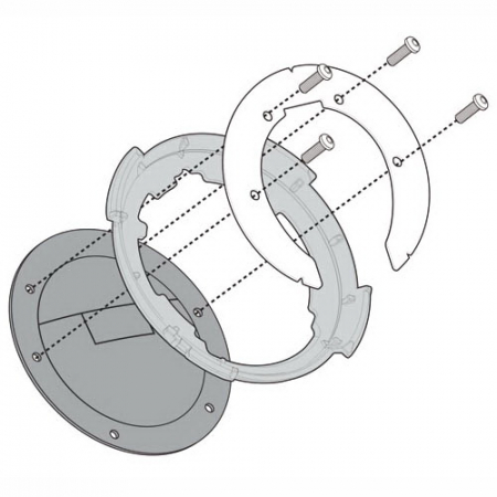 Flansa metalica pentru fixare gentuta rezervor GIVI-BF222