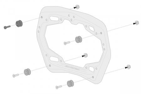 Genti laterale SysBag 30/30 cu sistem fixare pentru KTM 990 SM / SM-T / SM-R / 950 SM. [4]