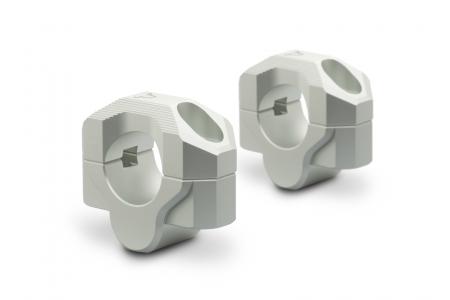 Inaltator ghidon D. 28 mm H=20 mm. argintiu. Milled.