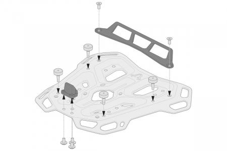 Kit adaptor pentru placa Top Case ADV Top-Rack negru pentru Givi Monolock [1]