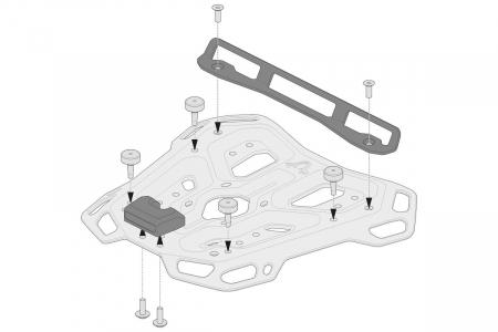 Kit adaptor pentru placa Top Case ADV Top-Rack negru pentru Shad 2. [1]