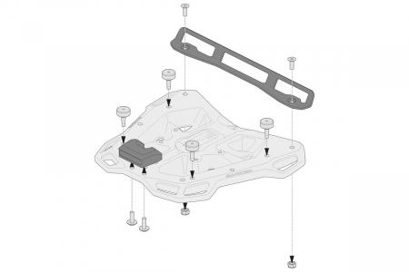 Kit adaptor pentru placa Top Case ADV Top-Rack negru pentru Shad 2. [2]