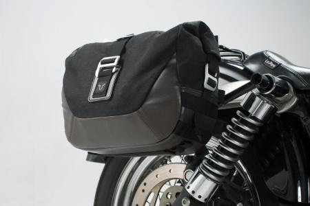 Legend Gear set geanta laterala - Negru Edition Dyna Street Bob (06-08), Low Rider (06-09).1