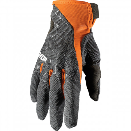 Manusi Off-Road  Thor E Draft Charcoal/Portocaliu 2XL