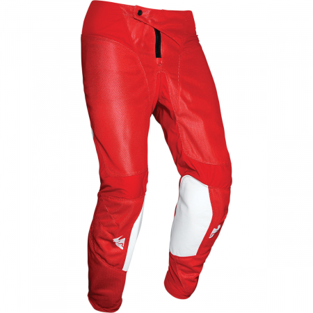 Pantaloni Copii Off-Road Thor Pulse Air Alb/Rosu 18