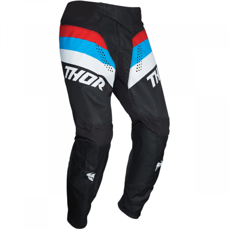 Pantaloni Copii Off-Road Thor Pulse  Rcr Negru/Albastru/Rosu 28
