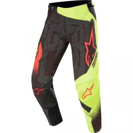 Pantaloni Cross-Enduro Alpinestars Techstar Factory 32 Negru/Galben Fluo